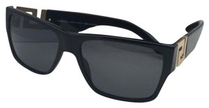 Versace Polarized VERSACE Sunglasses VE 4296 GB1/81 59-16 Black & Gold Frame w/Grey Lenses