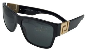 Versace New VERSACE Sunglasses VE 4296 GB1/87 59-16 145 Black & Gold Frame w/ Grey Lenses