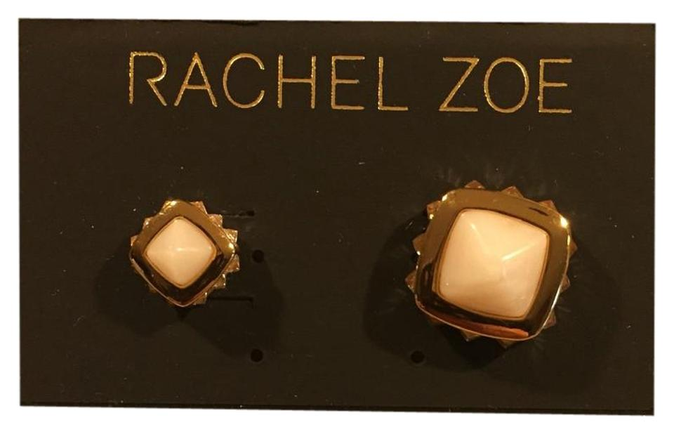 d100754e4 Rachel Zoe White Earrings - Tradesy