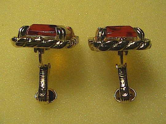 Vintage Sarah Coventry Citrine Clip on Earrings