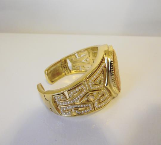 AMEDEO AMEDEO NYC Goldtone 40MM Cameo Art Deco Style 6.75