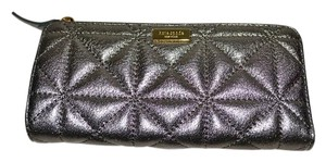 Kate Spade New KATE SPADE Nisha Quilted Leather Wallet Mercury Pewter