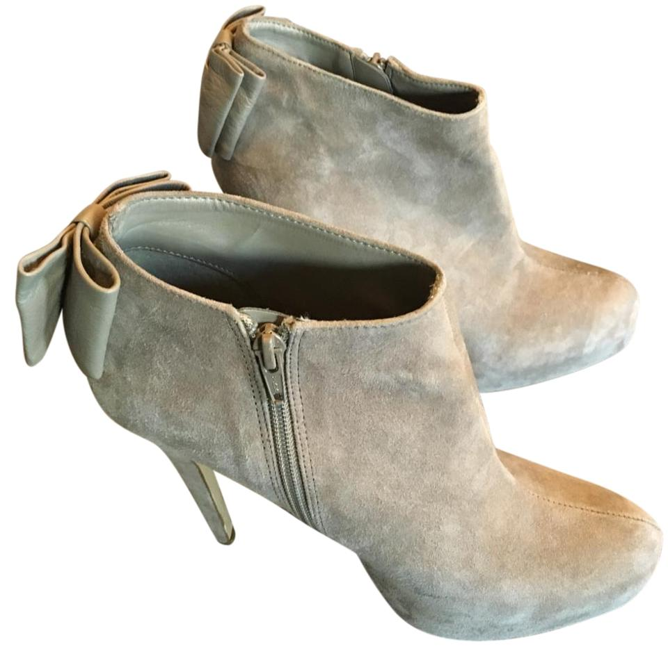 Dolce Vita Taupe Back Dv By Women's Banya Bow Back Taupe Platform Boots/Booties 694815
