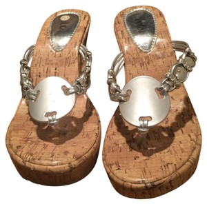 Dots Silver Brown Sandals