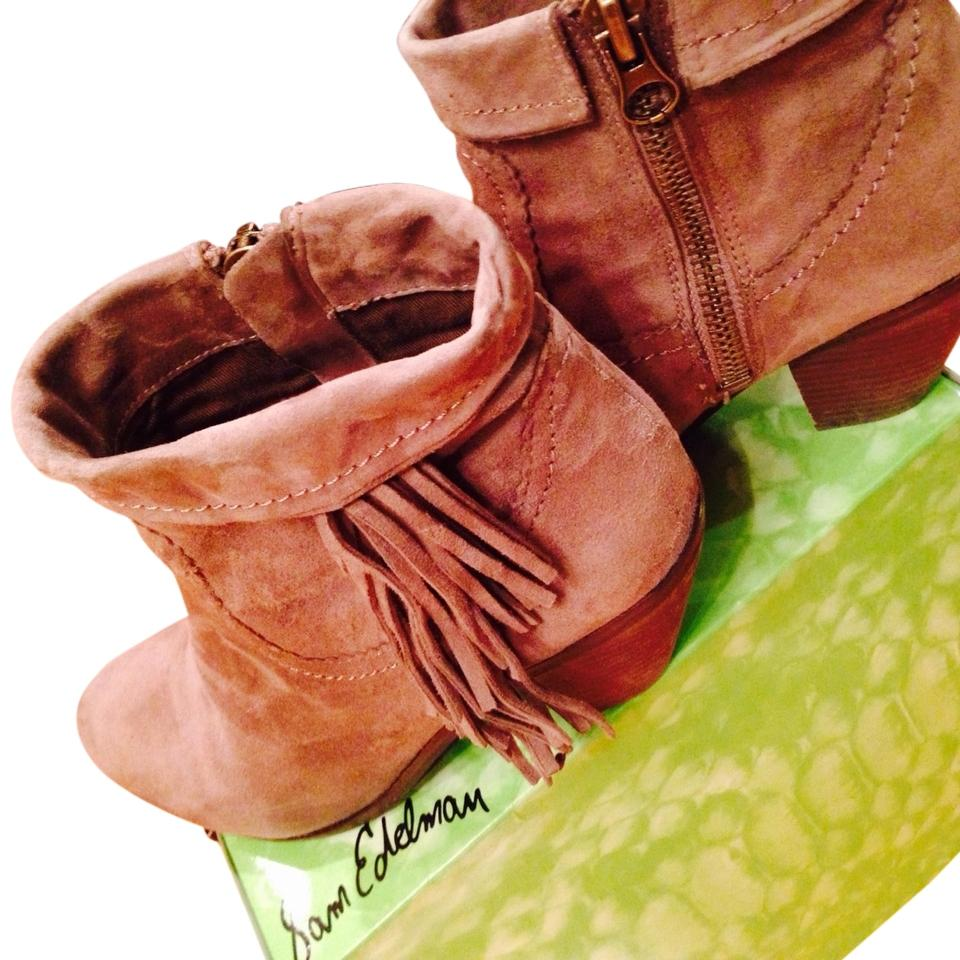 MISS First Sam Edelman Grey-tan Boots/Booties First MISS group of customers e48337