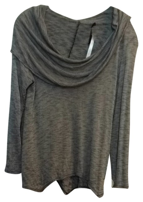 Preload https://item1.tradesy.com/images/kensie-black-and-whit-stripe-blouse-size-8-m-1644875-0-0.jpg?width=400&height=650