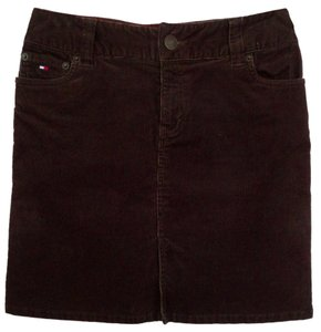 Tommy Hilfiger Mini Skirt Dark brown