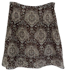 Ann Taylor Skirt Brown and light brown patterned