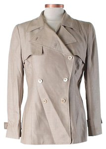 Carolina Herrera Wool Silk Double-breasted Trench Coat