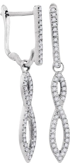 Other BrianG 10k WHITE GOLD 0.25 CTTW DIAMOND MICRO PAVE FASHION EARRINGS
