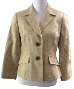 Kasper Chic Career Work Green Yellow Blazer