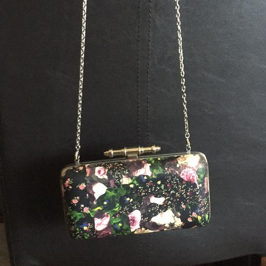 Givenchy Floral Summer Obsedia In Printed Leather Black Clutch Clutch