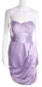 Shoshanna Silk Pastel Strapless Bodycon Prom Dress