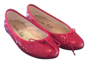 London Sole Red Patent Leather Flats