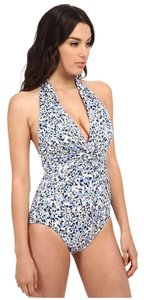 MICHAEL Michael Kors Michael Michael Kors Chilington Halter Maillot One Piece New Navy Size 6