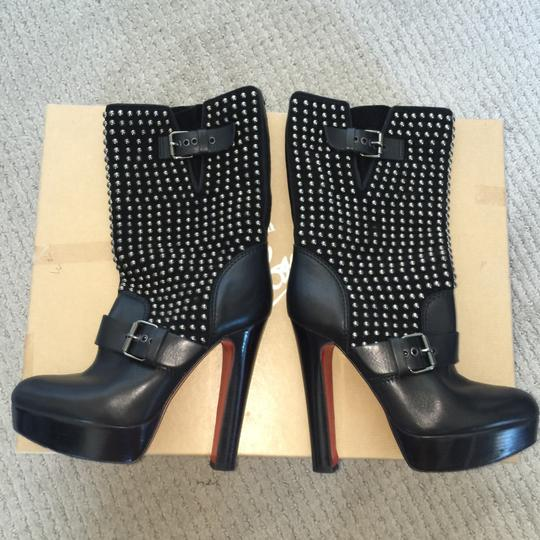 Christian Louboutin Studded Leather Black Boots