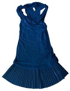 Free People short dress Blue Cowl Neck Date Night Size Small on Tradesy