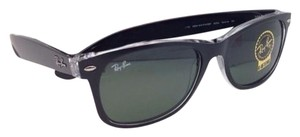 Ray-Ban New RAY-BAN Sunglasses RB 2132 6052 58-18 NEW WAYFARER Black on Clear Frame w/Green Lenses