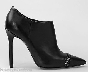 AllSaints Spitalfields Karli Low Zipper Detail Black Boots