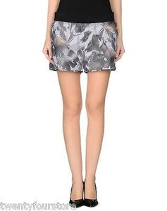 Theory Theory Young Shorts In Floral Rave Mesh Grays