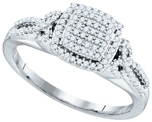 Other BrianG 10k WHITE GOLD 0.33 CTTW DIAMOND MICRO PAVE FASHION RING