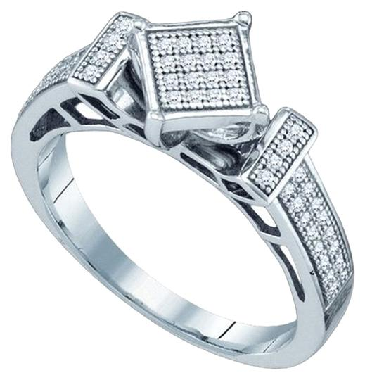 Other BrianG 10k WHITE GOLD 0.20 CTTW DIAMOND MICRO PAVE FASHION RING
