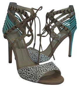 Dolce Vita Leather Suede Heels Sandals