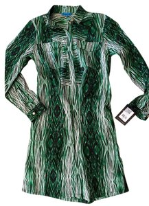 Derek Lam short dress Green wood grain print Nwt Size M on Tradesy