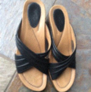 Dansko Black Wedges