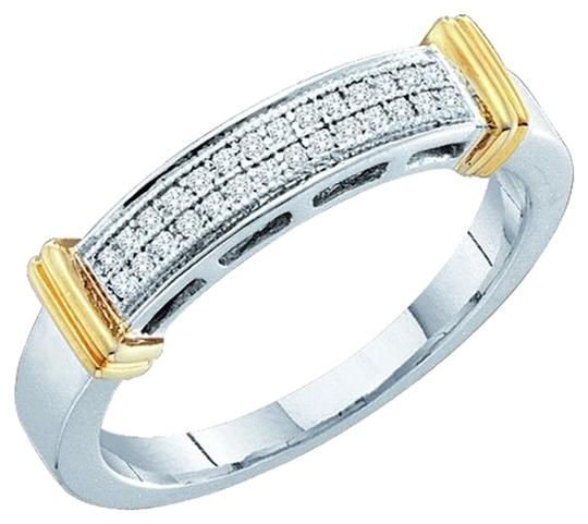 Other BrianG 10k WHITE GOLD 0.08 CTTW DIAMOND MICRO PAVE FASHION RING / BAND
