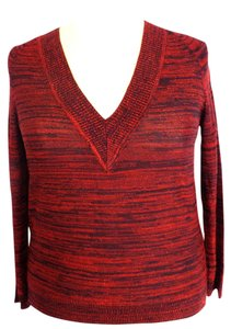 Jones New York Plus Size Fashions V-neck Metallic Sweater