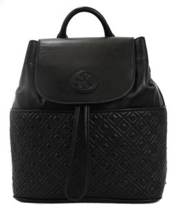 Tory Burch Marion Quilted Black Messenger Bag