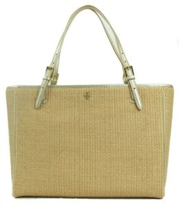 Tory Burch York Straw Buckle Tote in Multi-Color