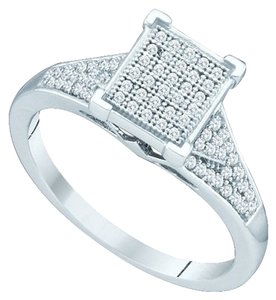 Other BrianG 10k WHITE GOLD 0.25 CTTW DIAMOND MICRO PAVE LUXURY FASHION RING