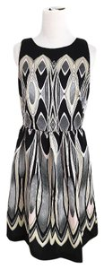Julian Taylor Wedding Metallic Geometric Classic Party Dress