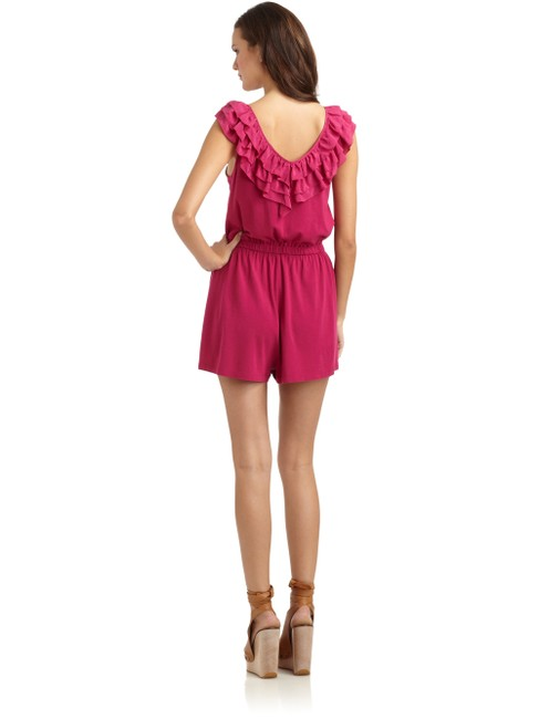 French Connection Silk Ruffles Playsuit Dress