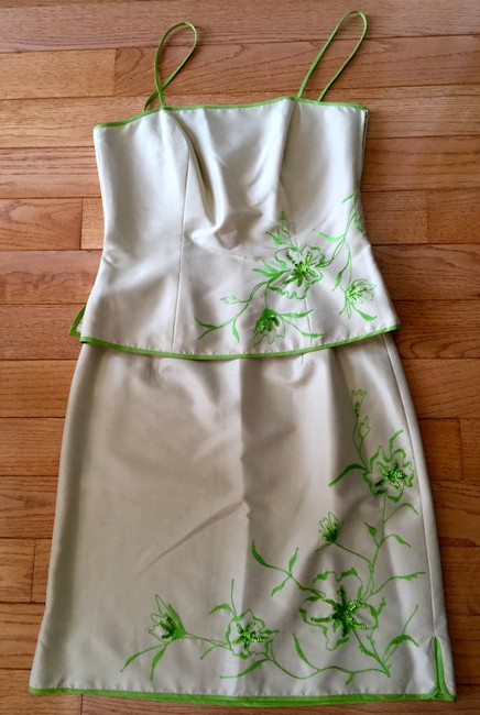 Jade by Melody Tam Silk Size 8 Silk Skirt Silk Top Formal Dress