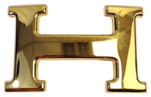 Hermès Hermes #6871 32mm Gold H Logo Gold hardware belt buckle for reversible belt strap Unisex for men and women
