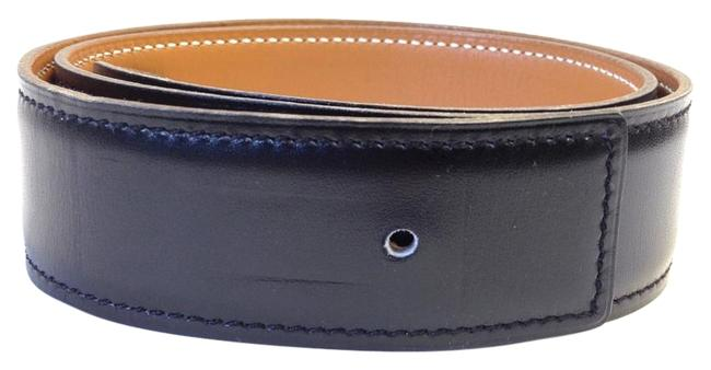 Item - Black and Tan Constance Box #6872 32 Mm Strap For H Buckle Size 60 On Natural Leather Belt