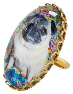 Modcloth Pug Dome Ring