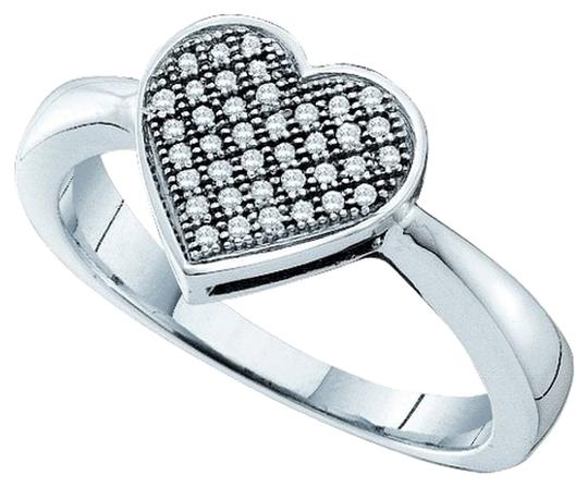 Other BrianG 10k WHITE GOLD 0.10 CTTW DIAMOND MICRO PAVE LUXURY HEART FASHION RING