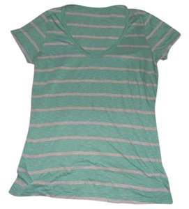 Splendid Shirt Stripes T Shirt Teal and Grey