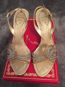 Gold Silver Rose Gold Day Sandals Size US 6 Regular (M, B)