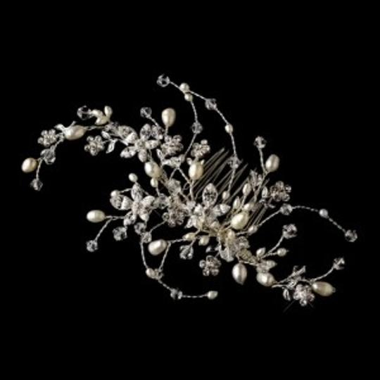 Elegance By Carbonneau Pearl And Crystal Wedding Hair Comb Vine