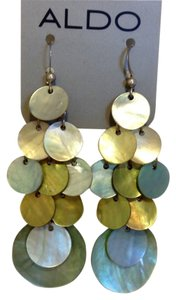 Aldo Dangling Sea Green Seashell Earrings