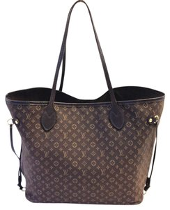 Louis Vuitton Neverfull Ebene Handbags Tote in Brown