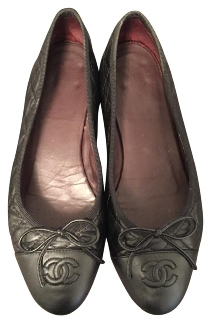 Item - Black Quilted Leather Flats Size US 6.5 Regular (M, B)