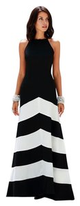 Jessica McClintock Chevron Prom Strapless Dress