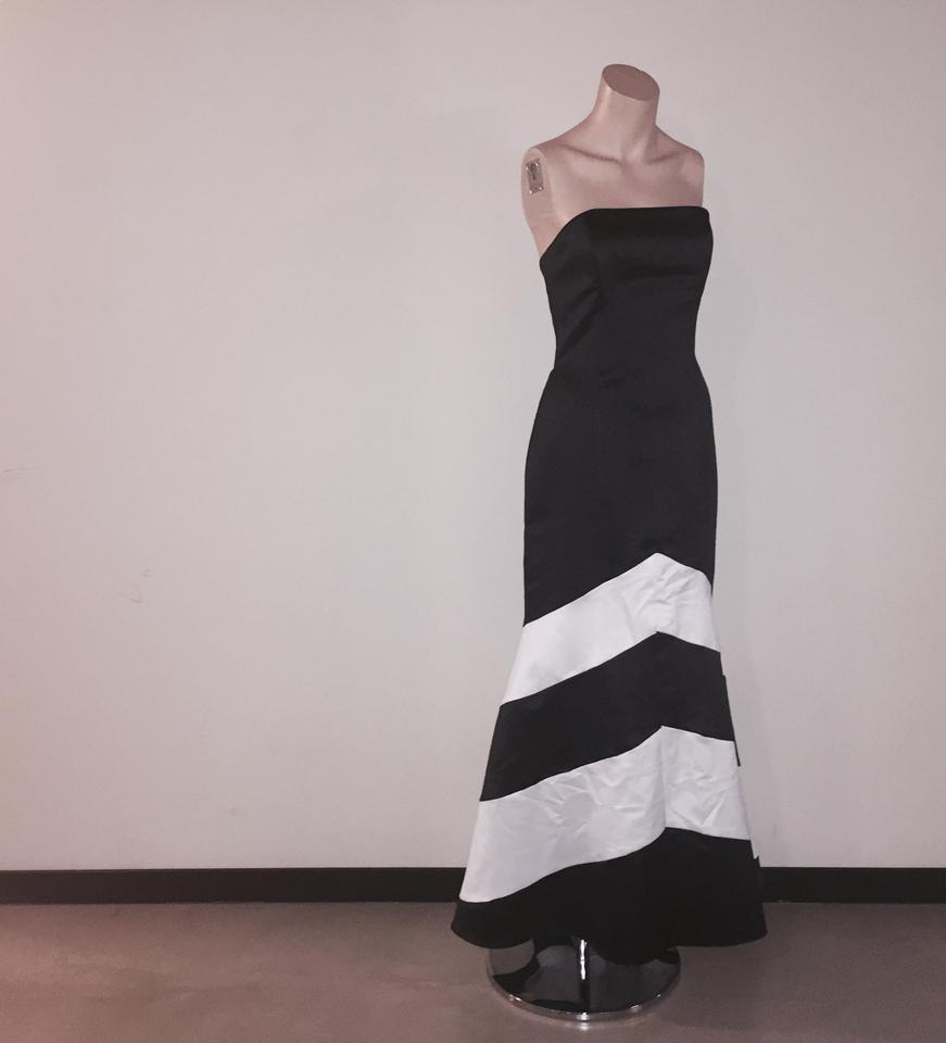 Jessica McClintock Black and White For Gunne Sax. Long Formal Dress ...