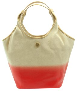 Tory Burch Canvas Leather Hobo Bag